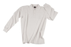 White polo shirt long sleeve Stock Photos
