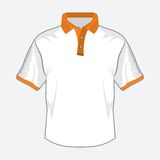 White polo shirt Stock Image