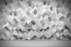 White polygon wall 3D background. 3D rendering Royalty Free Stock Image