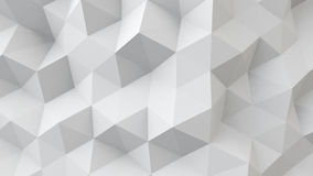 White polygonal geometric surface. Computer generated abstract 3D background Royalty Free Stock Images