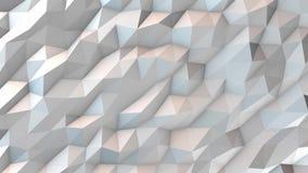 White Polygonal Geometric Surface Loop stock footage