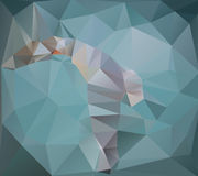 The white polygonal seagull on a turquoise background Royalty Free Stock Photography