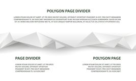 White polygonal seamless divider for website and landing page. Template royalty free illustration