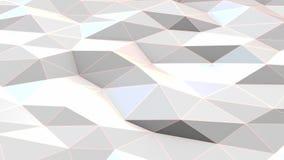 White polygonal surface waving stock footage