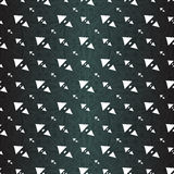 White polygons on a beautiful dark background Stock Images
