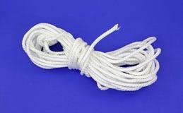 White polypropylene rope royalty free stock image