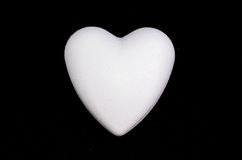 White Polystyrene Heart Royalty Free Stock Images