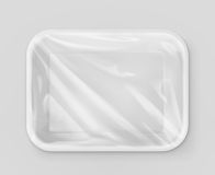 White polystyrene packaging. Vector mockup Royalty Free Stock Photo