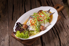 White Pomfret steam fish, chinese food Royalty Free Stock Photography