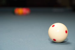 White pool ball stock images