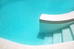 White pool turquoise water clean composition Royalty Free Stock Image