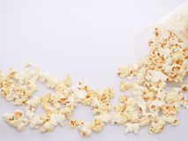 White popcorn on the white cloth Royalty Free Stock Photography