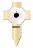 White Poppy Cross Stock Images