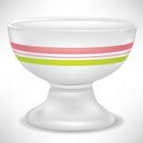 White porcelain bowl with stripes Royalty Free Stock Photos