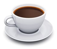 White porcelain coffee cup Royalty Free Stock Photo