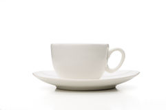 White Porcelain Coffee Cup Stock Image