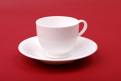White porcelain cup Stock Photography