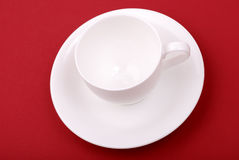 White porcelain cup Royalty Free Stock Photo