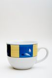 White porcelain cup. With color model view from 0 degrees angle Royalty Free Stock Photos