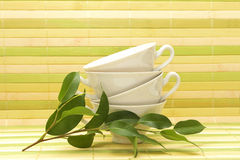 White porcelain cups Stock Photo