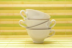 White porcelain cups Stock Images