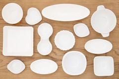 White porcelain dishes Stock Photography