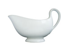 White porcelain milk jug Royalty Free Stock Photography