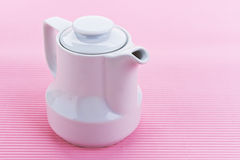 White porcelain milk jug Royalty Free Stock Images