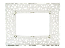 White porcelain photo frame Stock Image