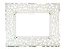 White porcelain photo frame Stock Image