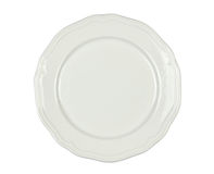 White Porcelain Plate - Isolated Stock Photo