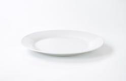 White porcelain plate stock image