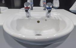 White porcelain sink Stock Photos