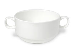 White porcelain soup cup Stock Photo