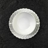White porcelain soup plate Royalty Free Stock Photo