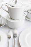 White porcelain tea set Stock Photography