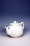 White porcelain teapot. Royalty Free Stock Photos