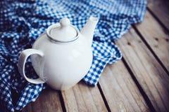 White porcelain teapot Royalty Free Stock Image