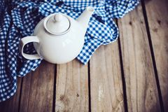 White porcelain teapot Royalty Free Stock Photos