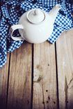 White porcelain teapot Royalty Free Stock Photography