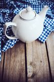 White porcelain teapot Royalty Free Stock Images