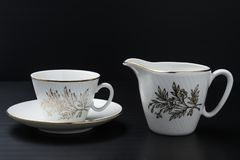 White porcelain tableware stock photography