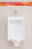 White porcelain urinals Stock Photo