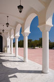White porch. With lantern of a greek church Stock Image