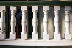 White Porch Railing Stock Photo