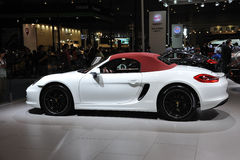 White Porsche boxster Stock Photos