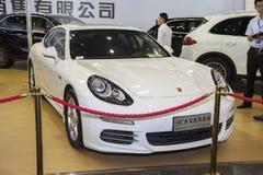 White porsche coupe car Stock Photography