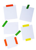 White post it isolated on a white. Background royalty free stock image