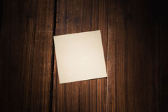 A White post it note Royalty Free Stock Photos
