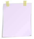 White post it notes isolated on white background. Royalty Free Stock Photo